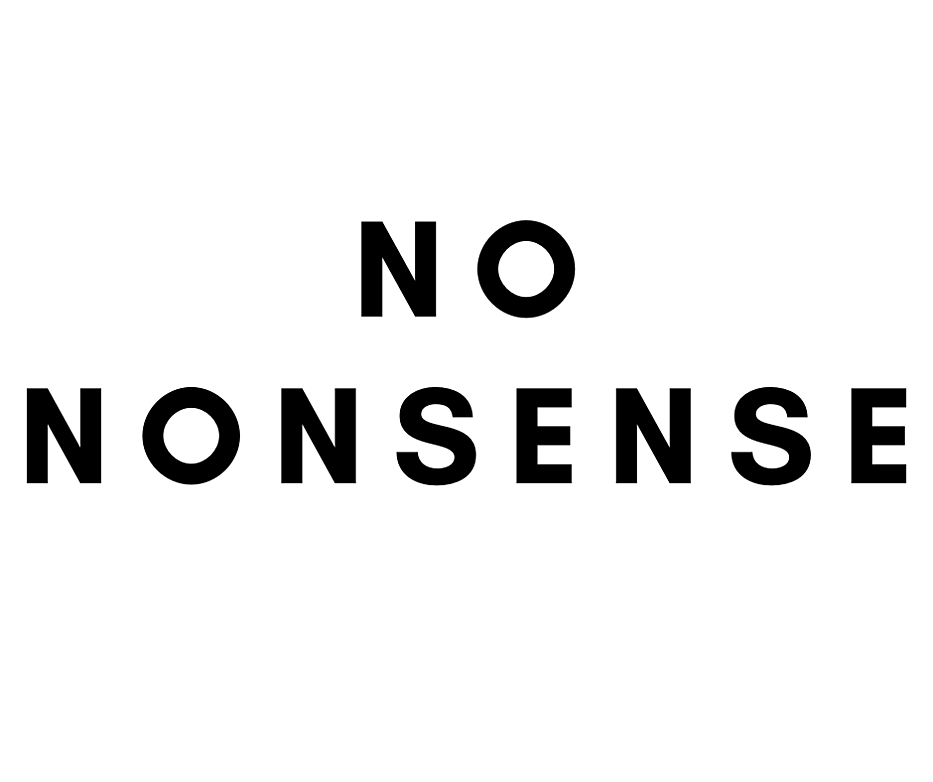 NO NONSENSE resized
